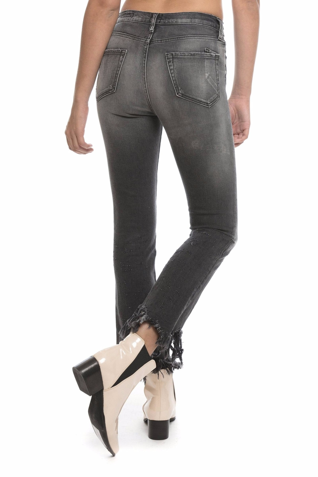 PRPS Biscayne Pricked Capri Jeans - Side Cropped Image