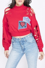 PRPS Mutilated Crop Pullover - Front cropped