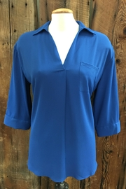Renuar Prussian Blue Blouse - Product Mini Image