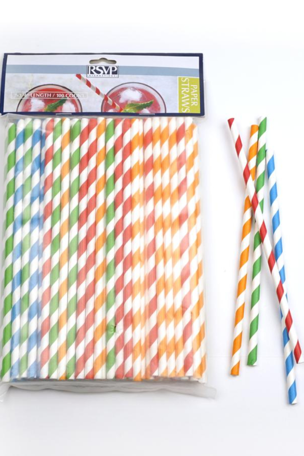 RSVP PS-100S Paper Straw Striped - Main Image