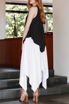 Shoptiques Product: Black and White Long Top