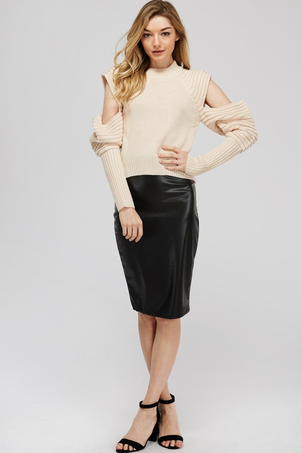 K too Pu Pencil Skirt - Back Cropped Image