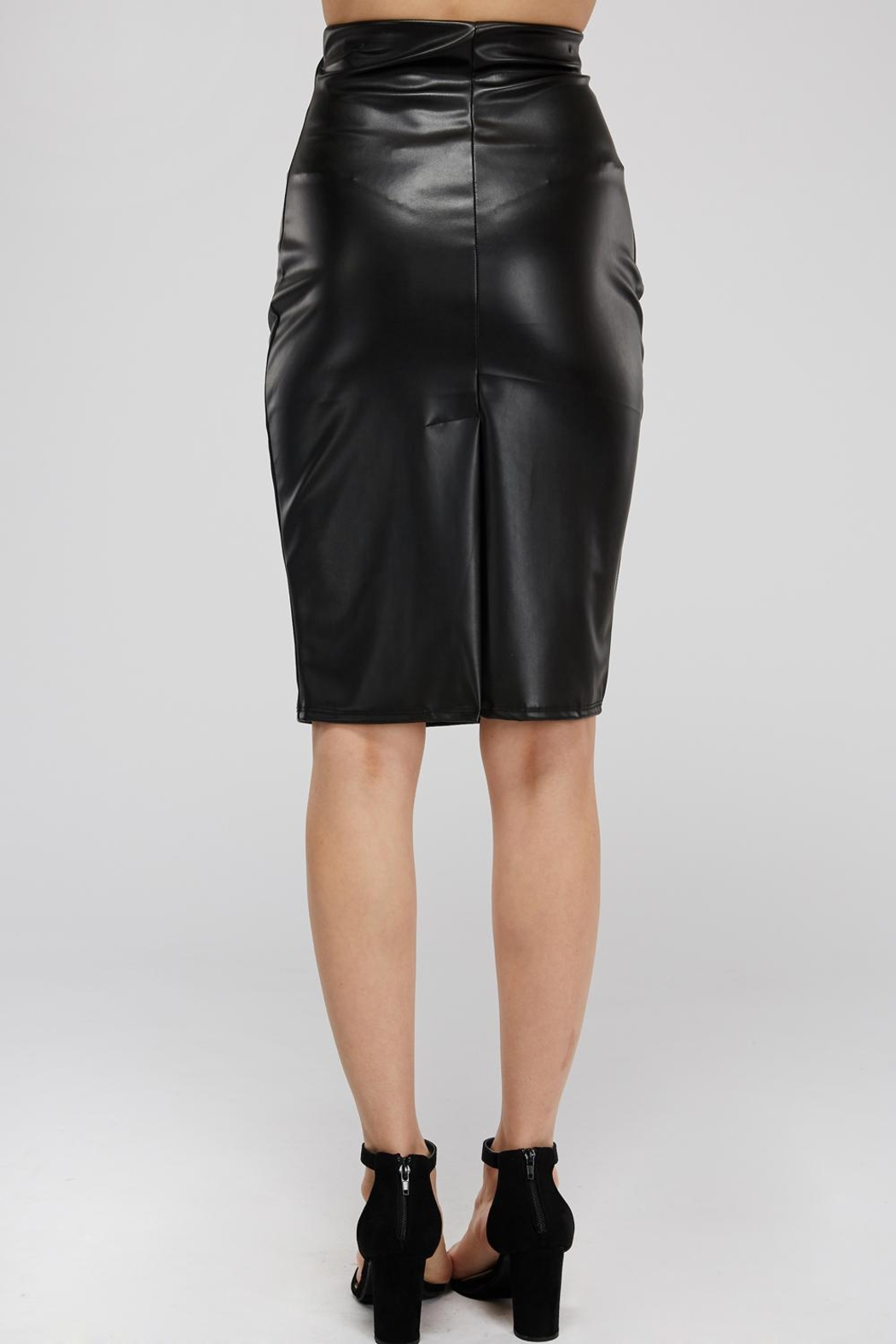 K too Pu Pencil Skirt - Side Cropped Image