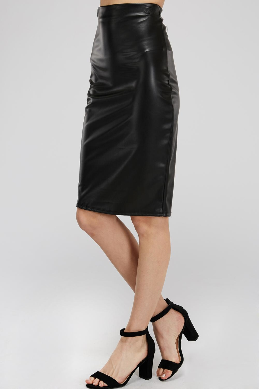 K too Pu Pencil Skirt - Front Full Image