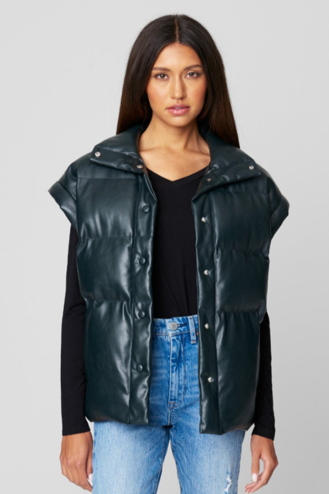 Blank NYC PU QUILTED VEST - Main Image