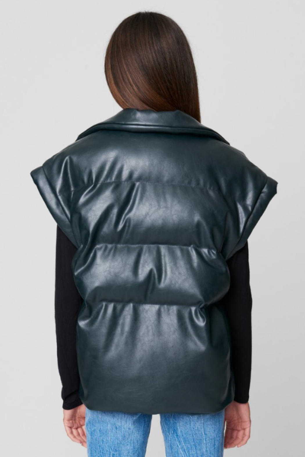 Blank NYC PU QUILTED VEST - Back Cropped Image