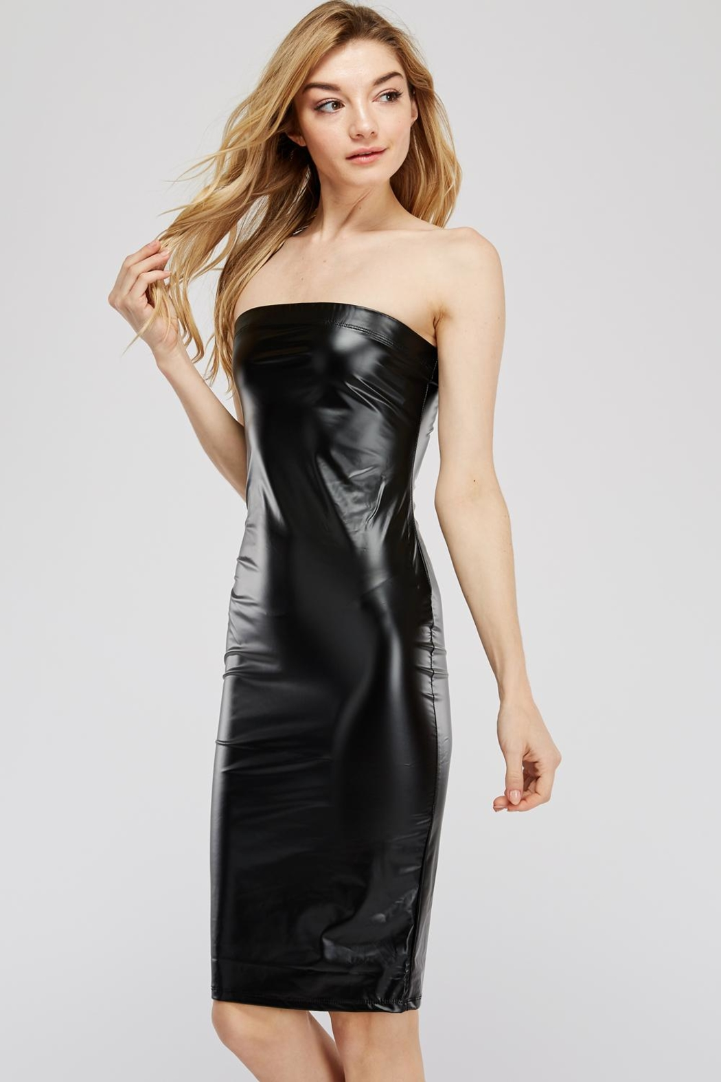 K too Pu Tube Dress - Front Full Image