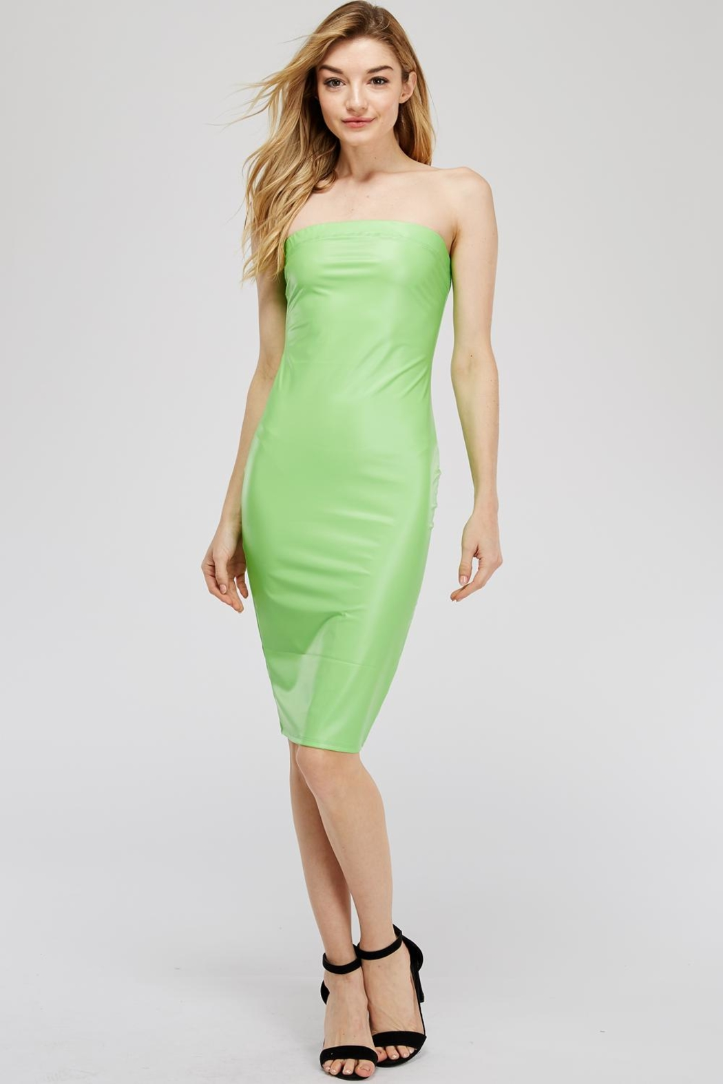 K too Pu Tube Dress - Front Cropped Image