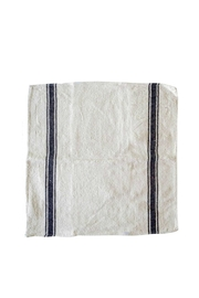PUEBCO Navy-Striped Dish Towel - Front cropped