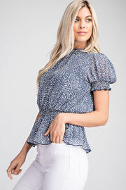 Glam Puff Shoulder Top - Product Mini Image