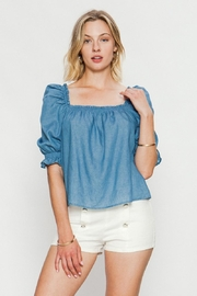 Jealous Tomato Puff Shoulder Top - Product Mini Image
