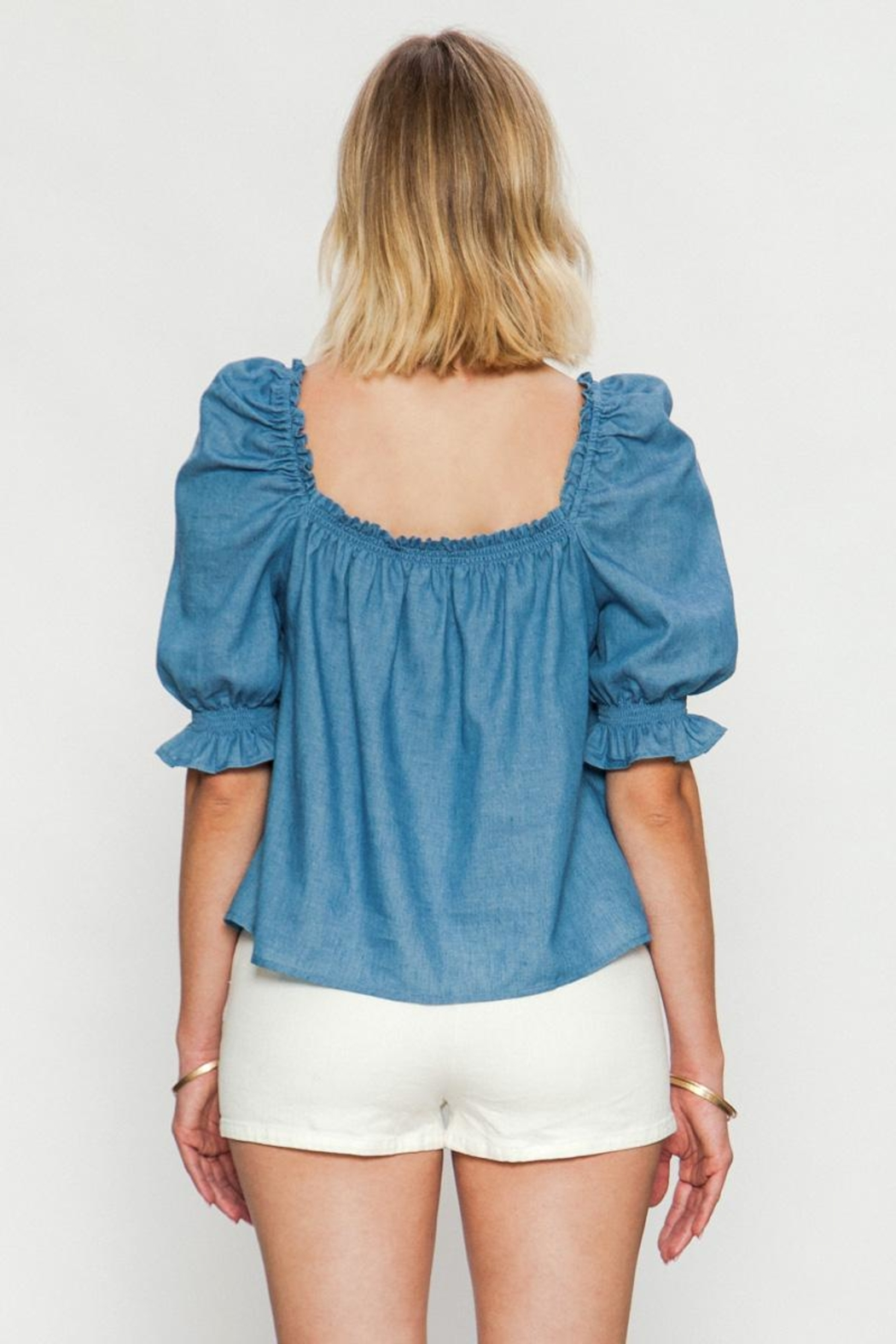 Jealous Tomato Puff Shoulder Top - Side Cropped Image