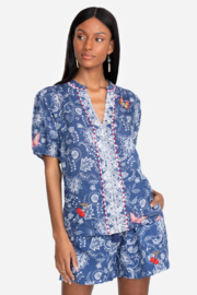 Johnny Was Puff Sleeve Blouse - Product Mini Image
