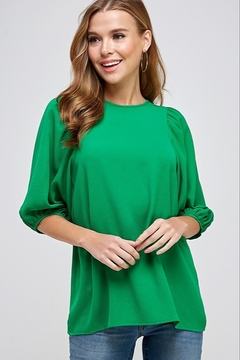 2 Hearts Puff Sleeve Blouse - Product List Image