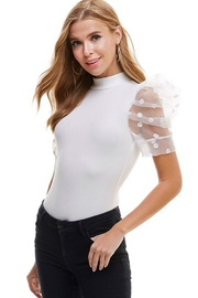 TCEC Puff Sleeve Bodysuit - Front full body