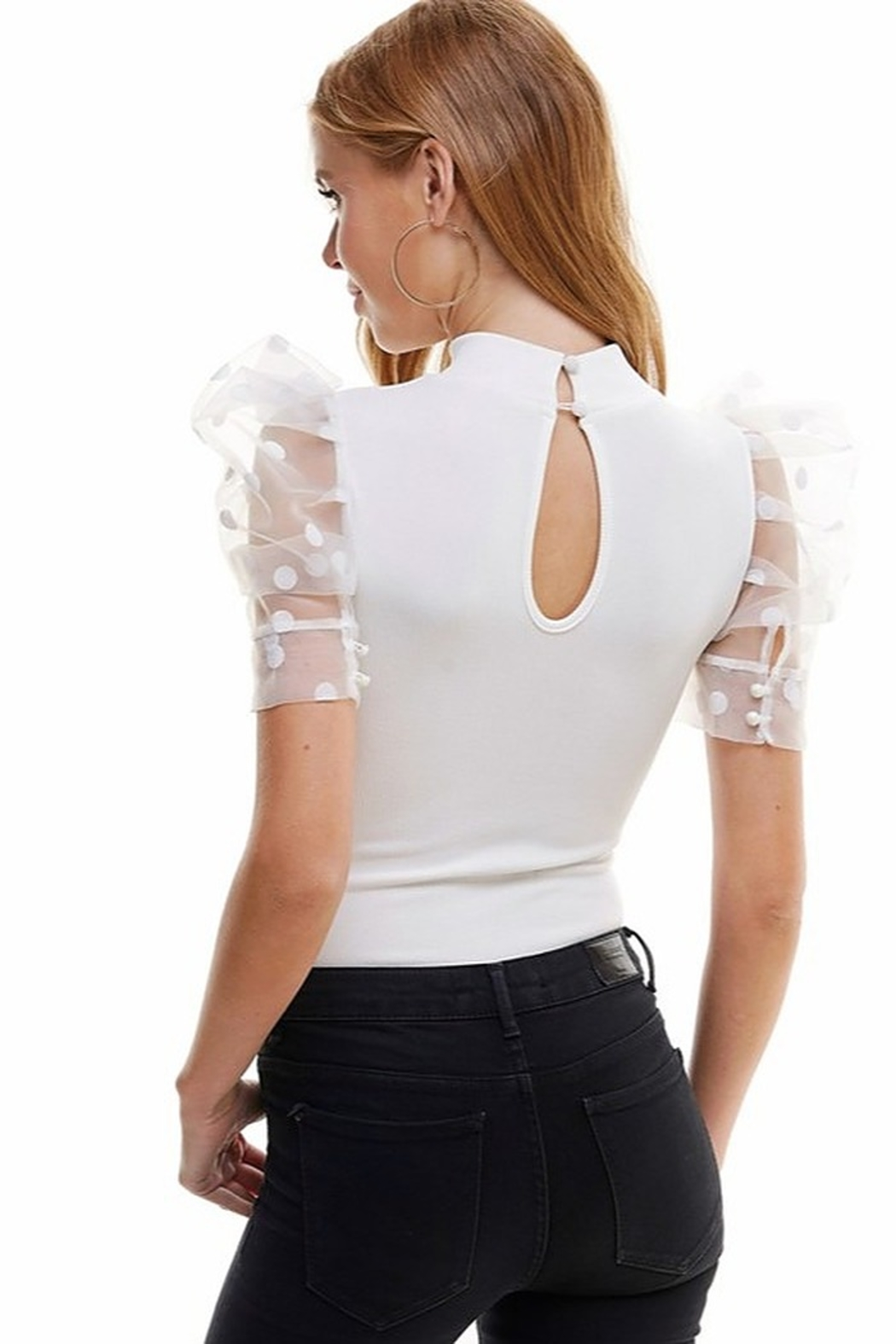 TCEC Puff Sleeve Bodysuit - Side Cropped Image