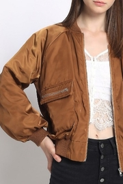 Sans Souci Puff Sleeve Bomber Jacket - Product Mini Image
