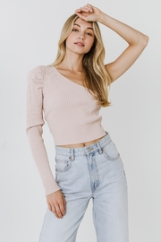 Endless Rose Pria Puff Sleeve One Shoulder Top - Product Mini Image