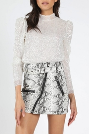 Honey Punch Puff Sleeve Sequin Top - Product Mini Image