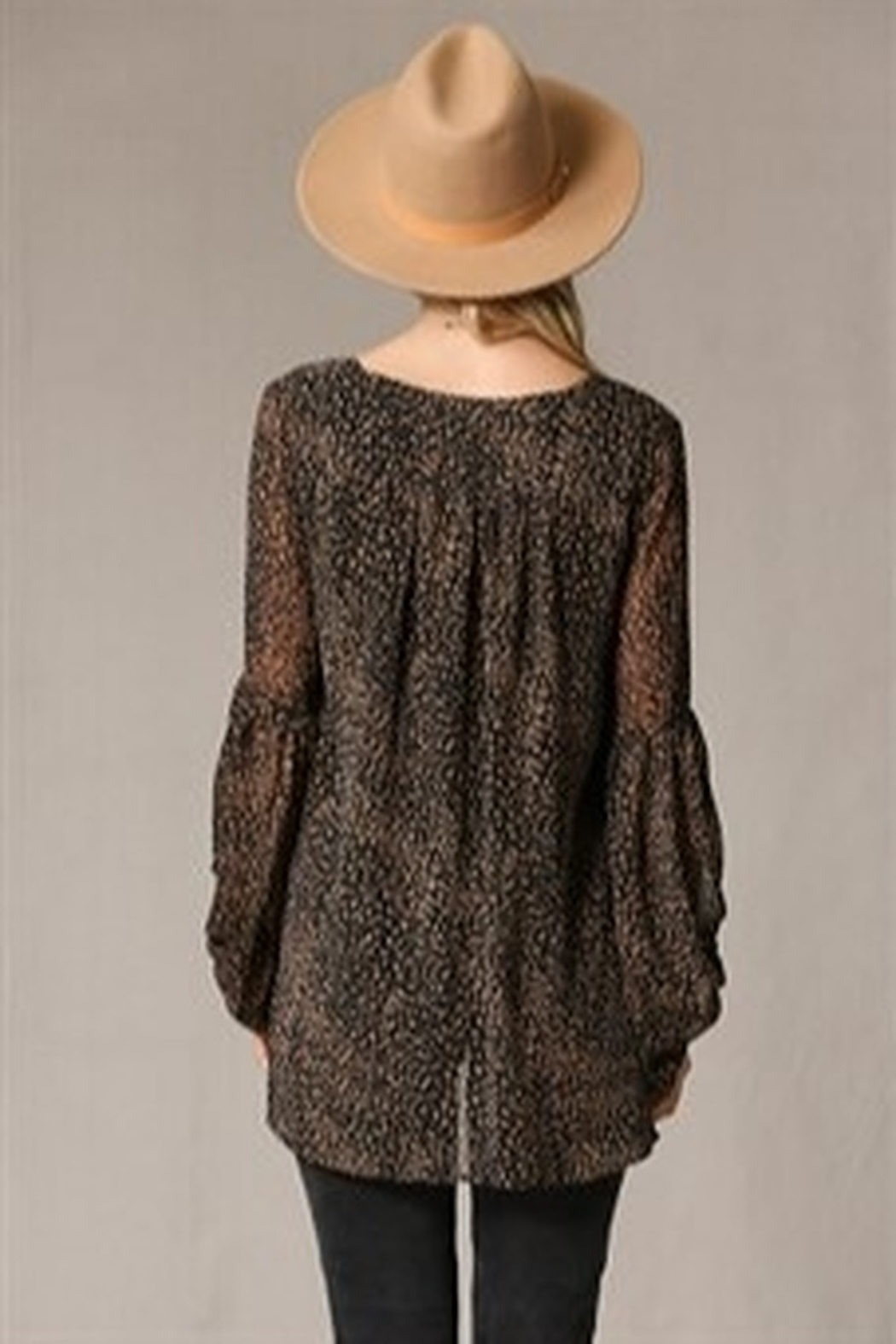 By Together Puff Sleeve Spotted Blouse - Front Full Image