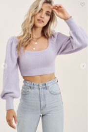 Mimosa Puff Sleeve Sweater - Front cropped