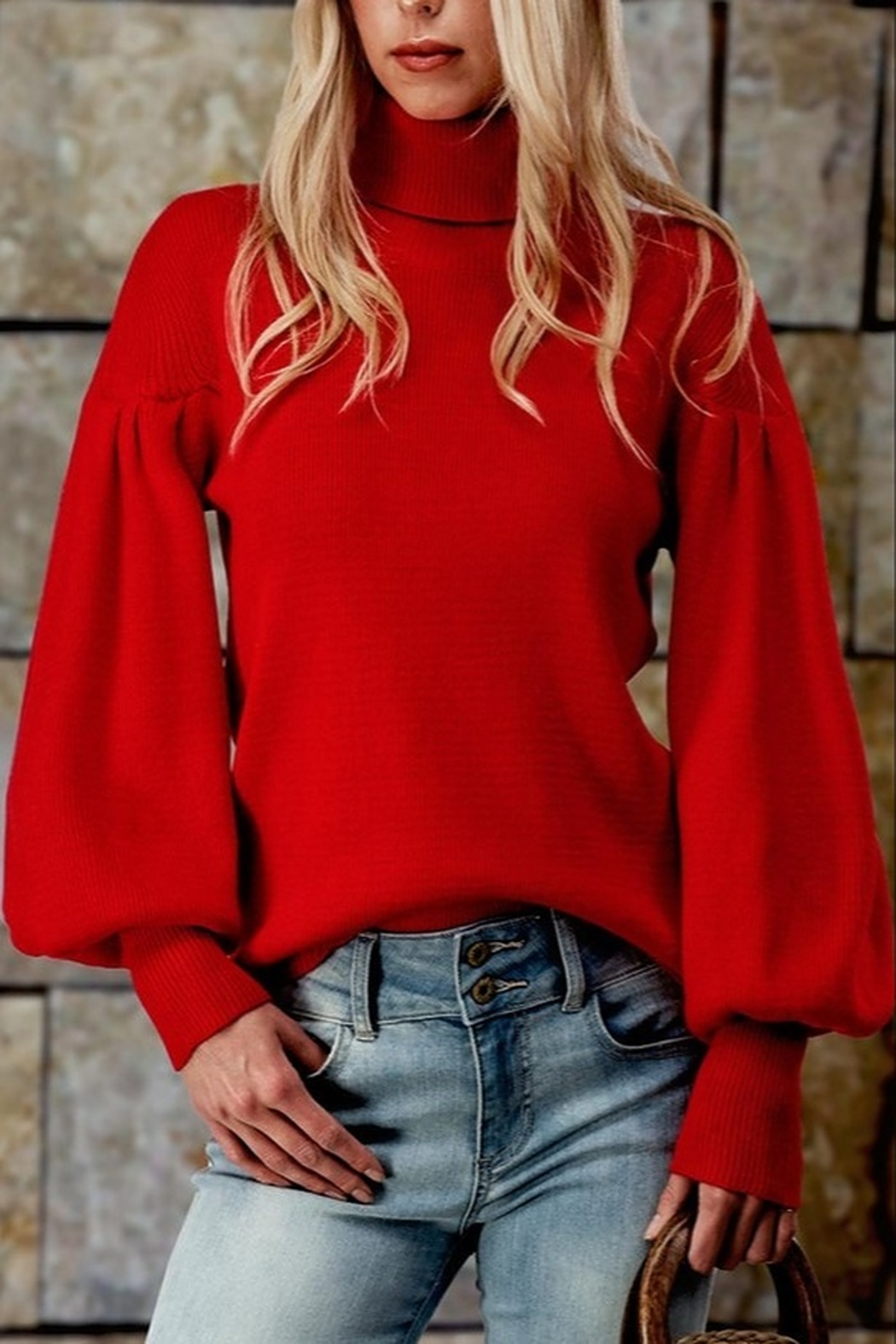 Trend Notes  Puff Sleeve Sweater - Main Image