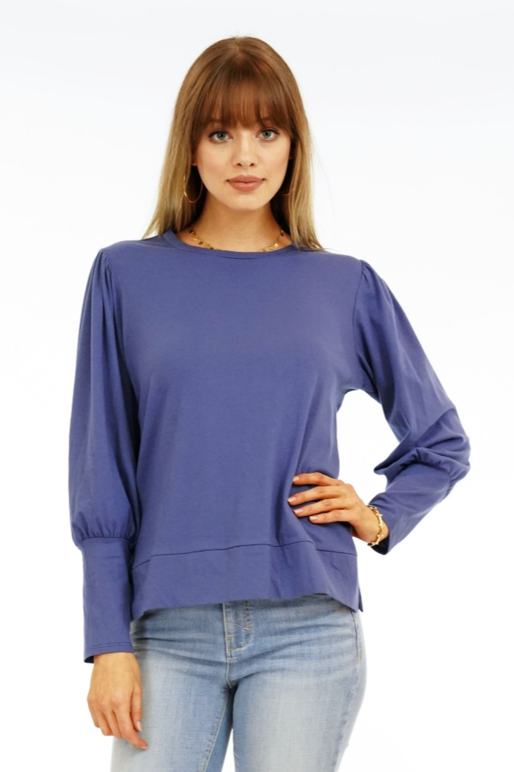 Veronica M Puff Sleeve Sweatshirt - Main Image