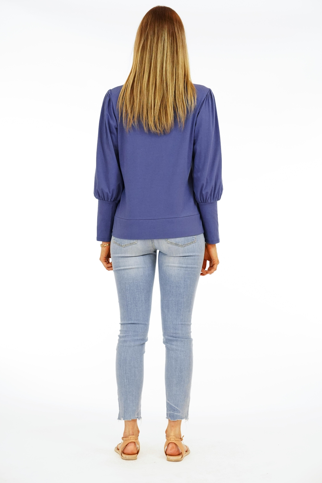 Veronica M Puff Sleeve Sweatshirt - Side Cropped Image