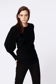 Nicole Miller Puff Sleeve Top - Front full body