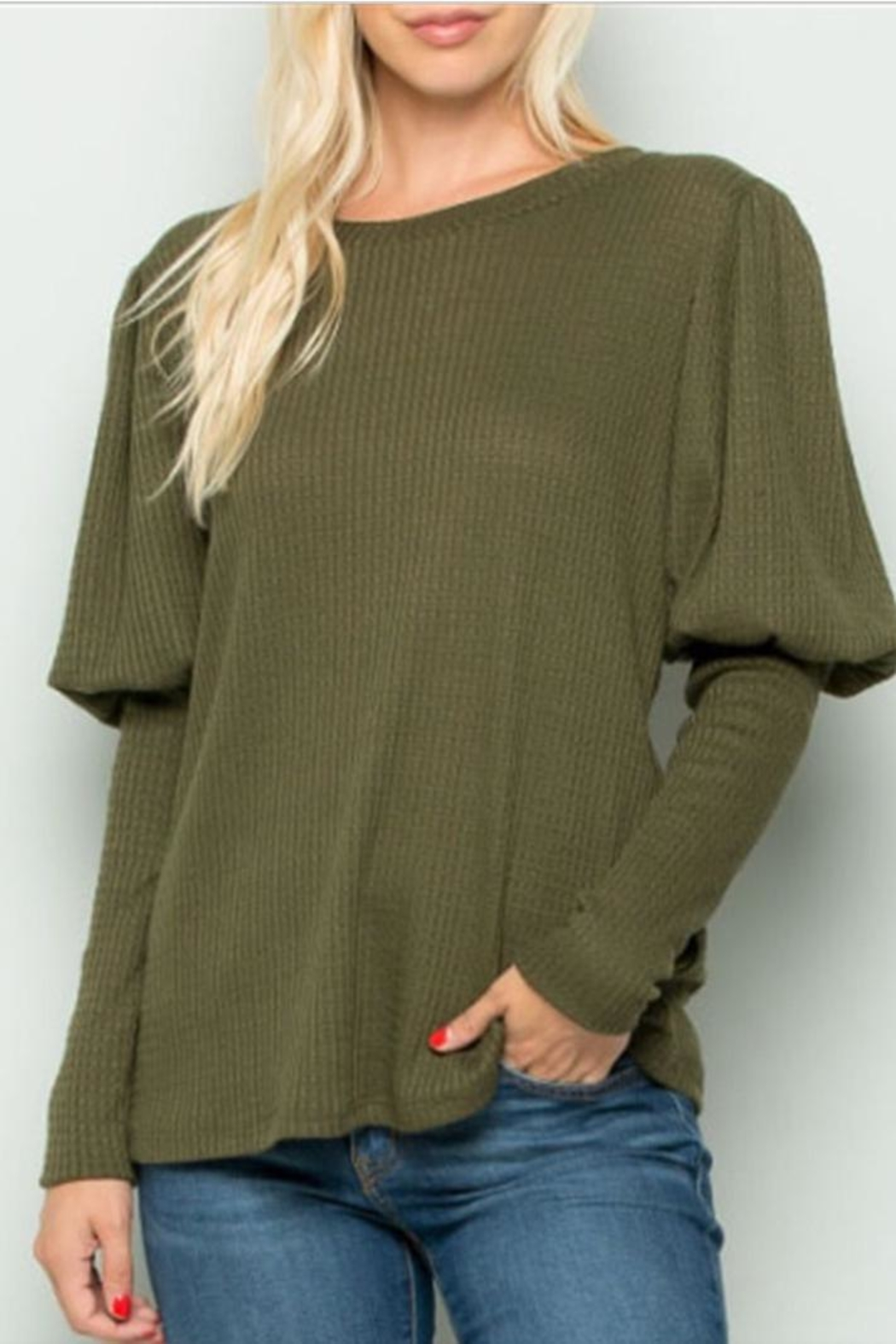 eesome Puff Sleeve Top - Main Image
