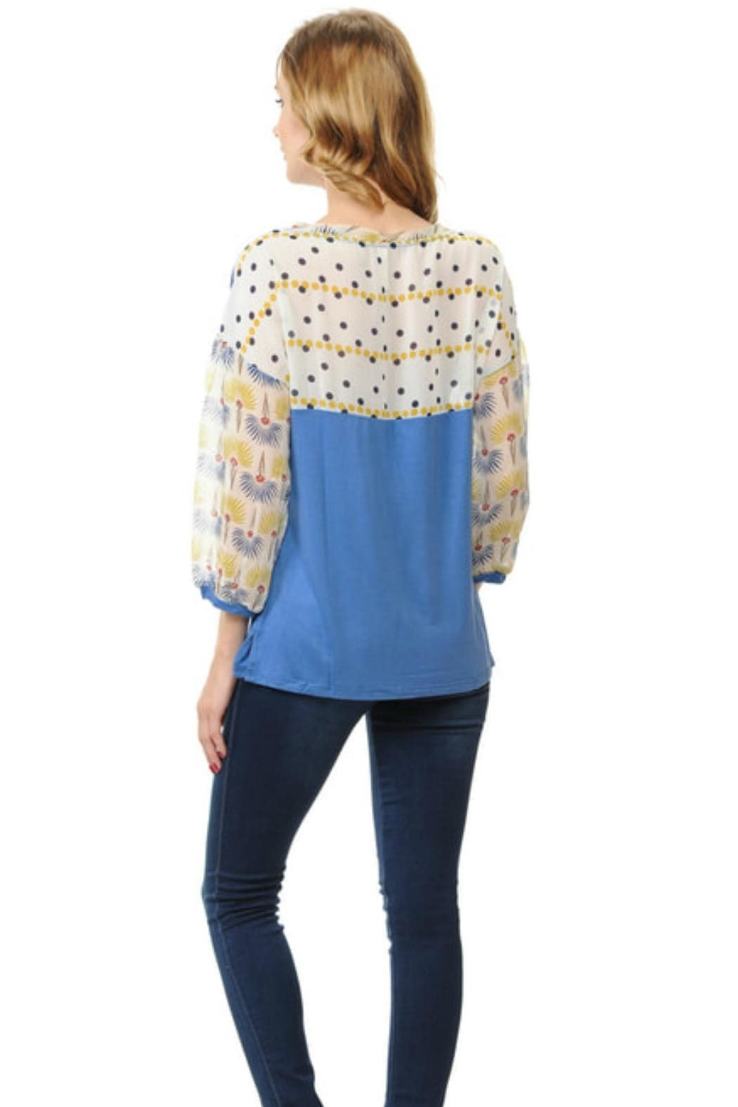 Cubism Puff Sleeve Top - Main Image