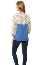 Cubism Puff Sleeve Top - Front cropped