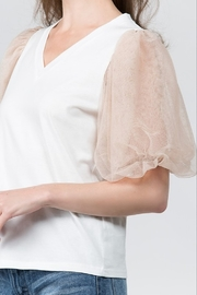 On Twelfth Puff Sleeve Top - Front full body