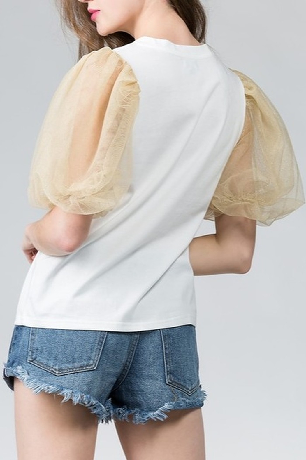 On Twelfth Puff Sleeve Top - Front Cropped Image