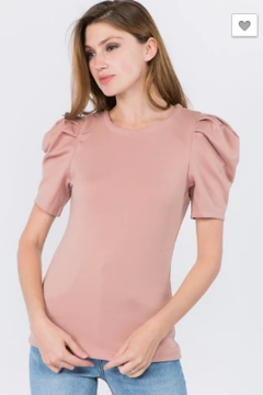 OnTwelfth Puff sleeve top - Product List Image