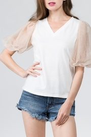 On Twelfth Puff Sleeve Top - Product Mini Image