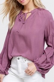 Listicle Puff Sleeve Top - Product Mini Image