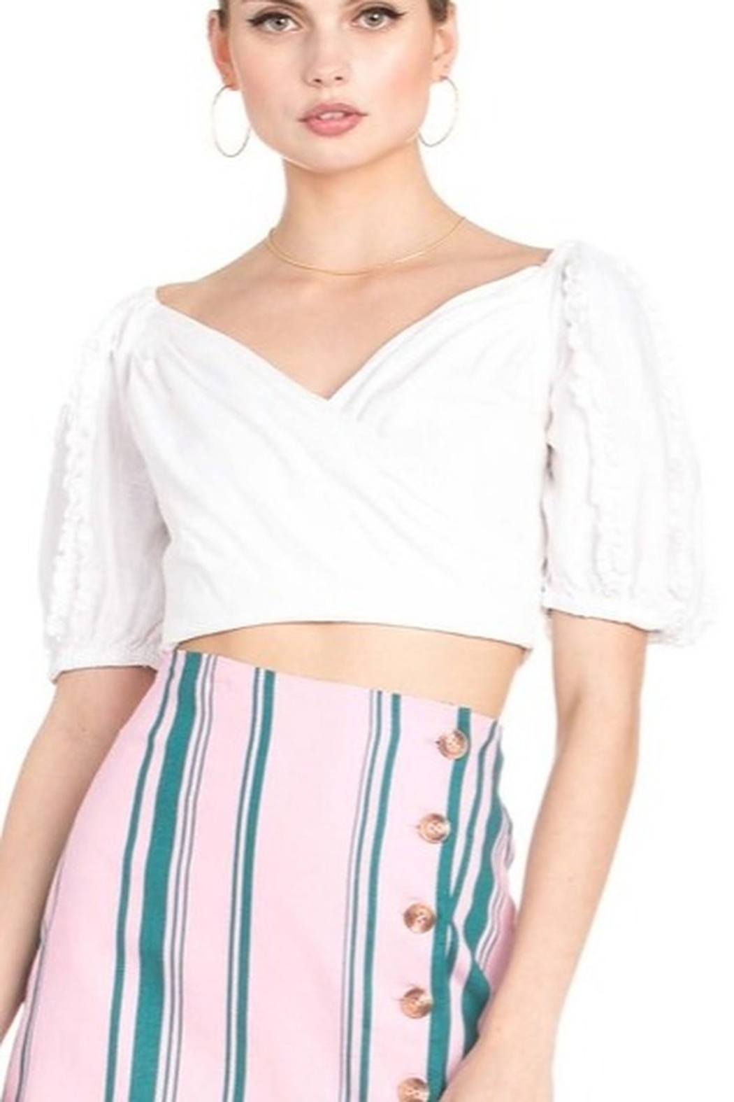 Dance and Marvel Puff Sleeve Top - Main Image