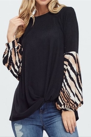White Birch Puff Sleeve Top - Product Mini Image