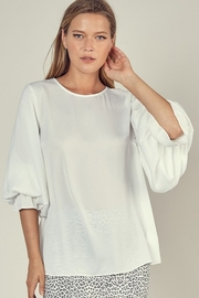 Mustard Seed Puff Sleeve Top - Product Mini Image