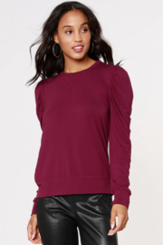 Bobi Los Angeles Puff Sleeve Top - Front cropped