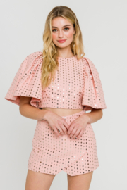 FREE THE ROSES Puff Sleeve Top - Product Mini Image
