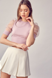 Idem Ditto  Puff Sleeve Top - Product Mini Image