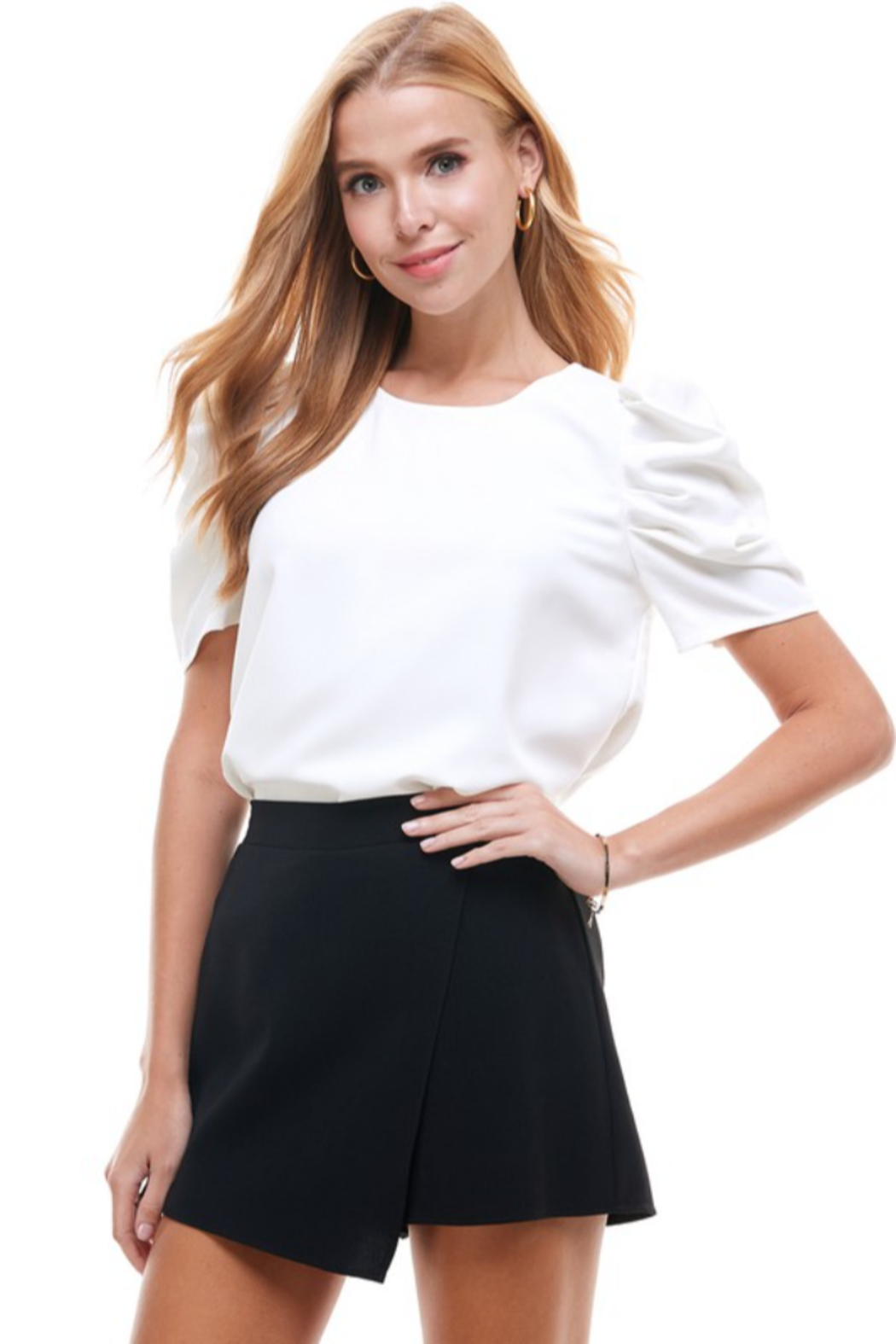TCEC Puff Sleeve Top - Front Cropped Image