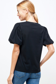 Ellison Puff Sleeve Top - Back cropped