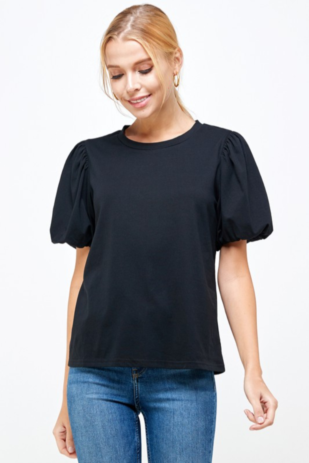 Ellison Puff Sleeve Top - Front Cropped Image