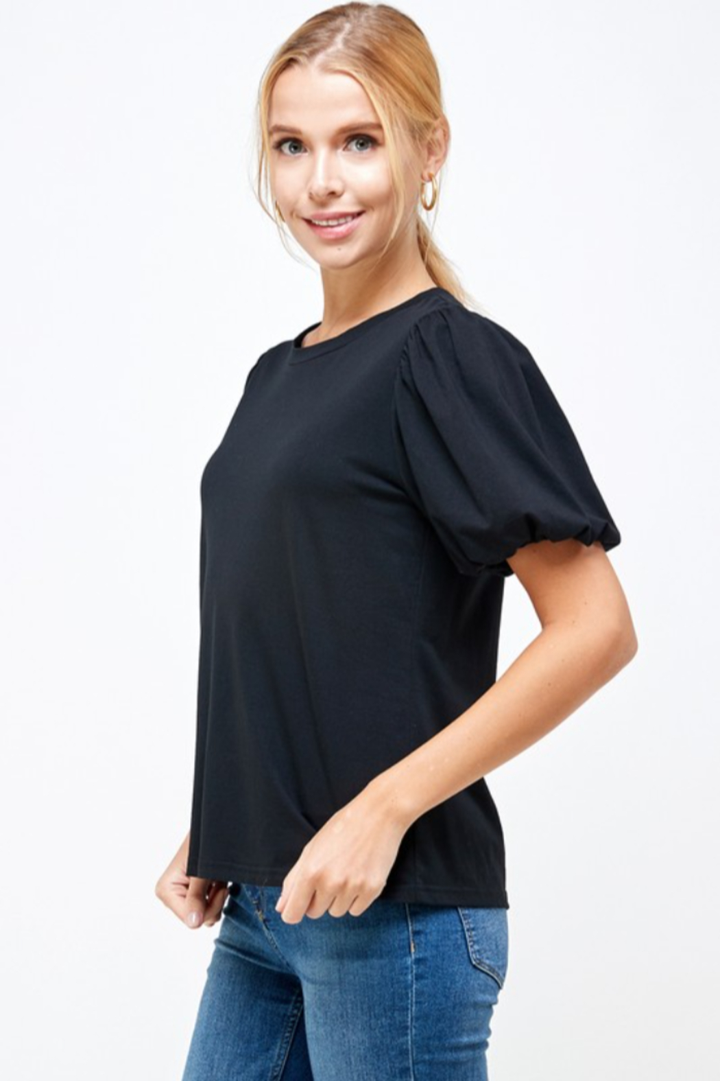 Ellison Puff Sleeve Top - Front Full Image