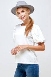 Ellison Puff Sleeve Top - Front full body