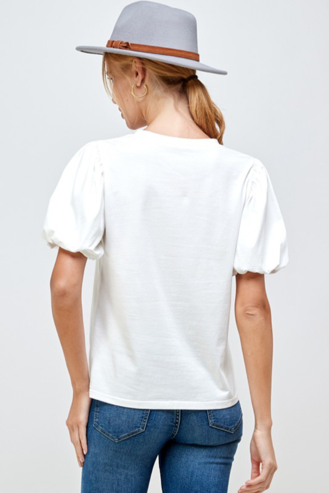 Ellison Puff Sleeve Top - Side Cropped Image
