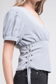 J.O.A. Puff Sleeve Top - Front full body